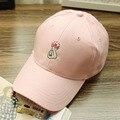 2016 Moda Bonés De Beisebol Coreano Engraçado Gráfico Bordar Coração Dedo Cap Gorras boné de Beisebol Snapback Chapéus Das Mulheres Dos Homens de Verão
