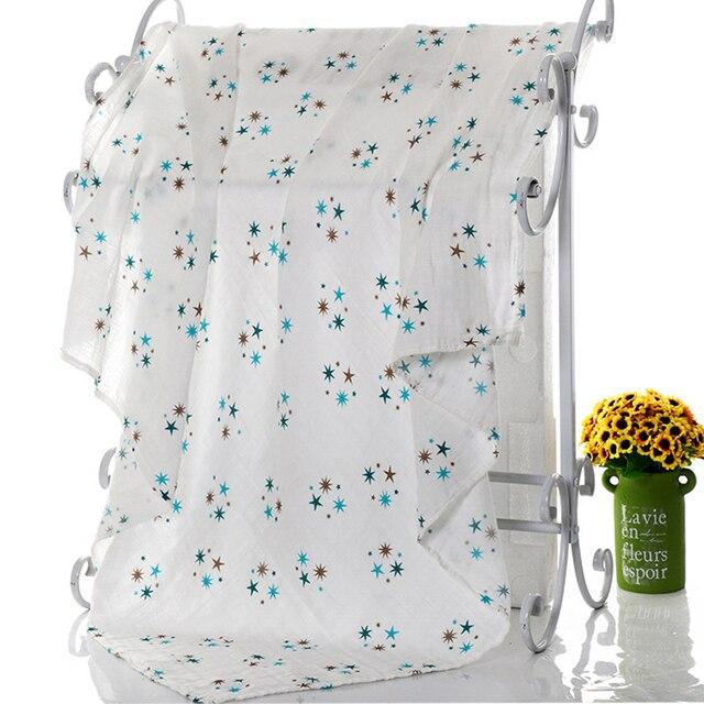 1Pc Muslin 100% Cotton Baby Swaddles Soft Newborn Blankets Bath Gauze Infant Wrap Sleepsack Stroller Cover Play Mat 4