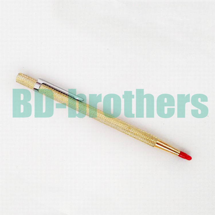 Gold Color Diamond Glass Pen Cutter Lettering Carbide Tipped Scriber for Phone Tablet PC Glass Screen Cutting 100pcs/lot