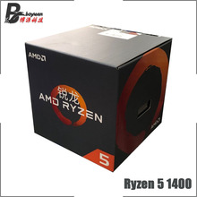 Procesador CPU AMD Ryzen 5 1400 R5 1400 3,2 GHz Quad Core de ocho hilos L2 = 2M L3 = 8M 65W YD1400BBM4KAE Socket AM4 nuevo y con ventilador