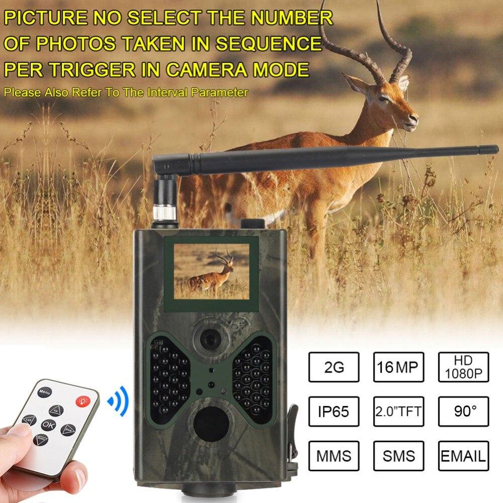 Caméra de chasse 16MP pièges Photo Email SMTP MMS GSM 1080 P Vision nocturne HC300M mise à niveau HC330M caméras de Surveillance de la faune - 4