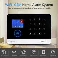 LESHP 2G WIFI GSM GPRS Switchable RFID Card Wireless Home Security Disarm Alarm System APP Remote