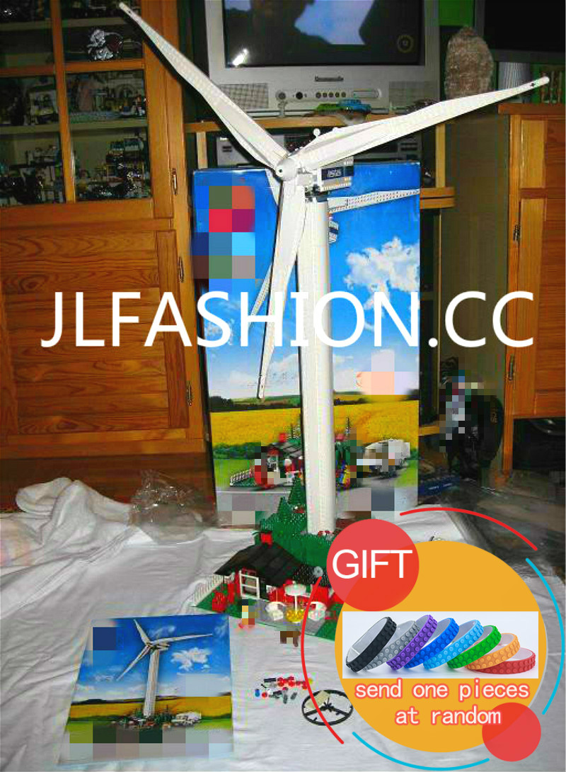 37001 873PCS The Vestas Windmill Turbine Set Children Educational Building Blocks Model Gift Compatible with 4999 toys lepin new lepin 15003 2859pcs the topwn hall model building blocks kid toys kits compatible with 10224 educational children day gift