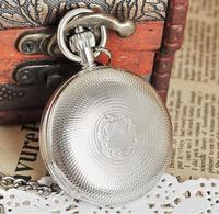 New Arrival Antique Silver Double Openable Case Mechanical Men Pocket Watch