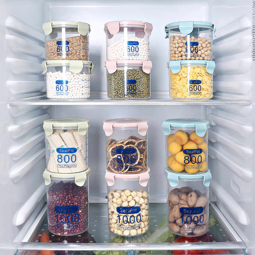 1 pçs de alta qualidade caixa armazenamento da cozinha vedação preservação alimentos plástico pote fresco recipiente caixa quente organizador caso cozinha