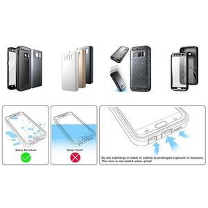 Image 3 - Für Samsung Galaxy S7 Fall SUPCASE Wasserdicht Voll Körper Robuste Fall mit Integrierten Bildschirm Protector + 3 Austauschbar abdeckungen