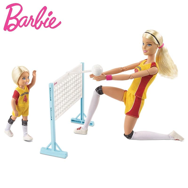 Оригинальный Барби кукла маленькая волейбол учитель моды Barbie Girl 2018 подарок девушке на день рождения девушка Boneca FRL33