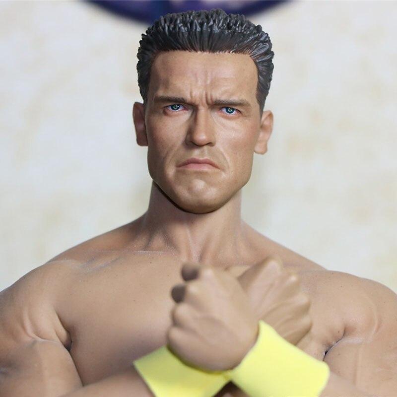 Mnotht Head Sculpt Custom 1/6 Scale Arnold Schwarzenegger 2 T800 Head Carving Model For 12in muscle Glue Body Toys l30 mnotht toys 1 6 emilia clarke head sculpt carving model for 12 figure peaktoys pt002 presale toys l30