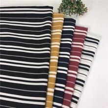 Silk Hemp Striped Printed Chiffon Fabric DIY Sewing Textile Spring and Summer Dress Shirt