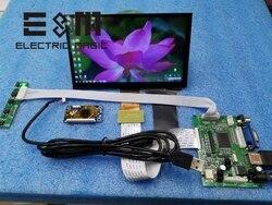 E & M 4 7 polegada 1024*600 Tela de Toque Capacitivo Ponto IPS Módulo LCD 720 P HDMI VGA USB Carro Raspberry Pi 3 Jogo Monitor de Exibição DIY