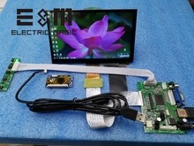 E & M 7 אינץ 1024*600 מגע קיבולי מסך 4 נקודת IPS LCD מודול 720 P HDMI VGA USB רכב פטל Pi 3 צג משחק תצוגת DIY