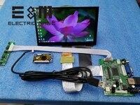 E&M 7 inch 1024*600 Capacitive Touch Screen 4 Point IPS LCD Module 720P HDMI VGA USB Car Raspberry Pi 3 Monitor Game Display DIY