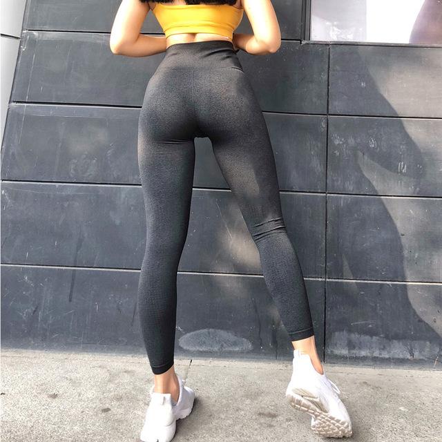 Women Seamless Leggings Tummy Control Yoga Leggings High Waist Booty Leggings