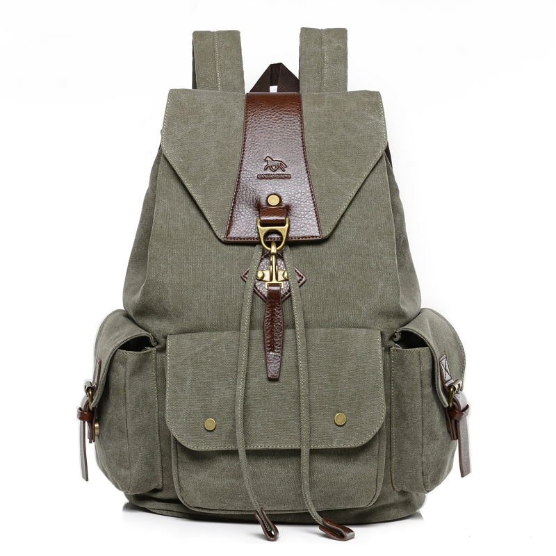 Vintage Large Men Drawstring Backpack Canvas Fashion Laptop Backpack Travel Men Rucksack Casual School Bags For Teenagers 1234 naruto write round eyes backpack fashion casual backpack teenagers men women s student school bags travel laptop bag