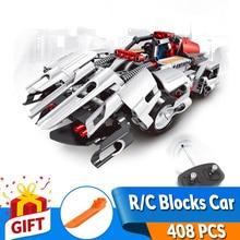 29cm 2in1 Transform Car Technic DIY Assemble RC Car Building Stacking Blocks 408 pcs Big Bricks education Toys Toy Gift for Kids