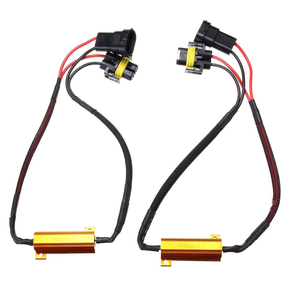 ул маросейка д 9 2 стр 8 2x H8 H9 H11 50W LED Turn Singal Load Resistor Warning Canceler Decoders Light Error Free Wiring Canceller Decoder