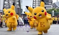Pokemon pikachu mascotte kostuum carnaval anime pokemon film karakter klassieke cartoon volwassen karakter dress cartoon pak