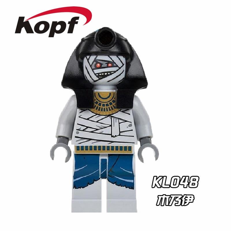 Single Sale Super Heroes Mummy Warrior Medieval Egyptian Barbarian Building Blocks Bricks Action Toys for children Gift KL048