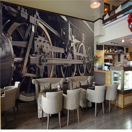 Custom 3d mural wallpaper custom 3D European style mural hotel lounge bar restaurant KTV train wheel wallpaper mural трубогиб для труб из металлопластика и мягких металлов sparta 181255