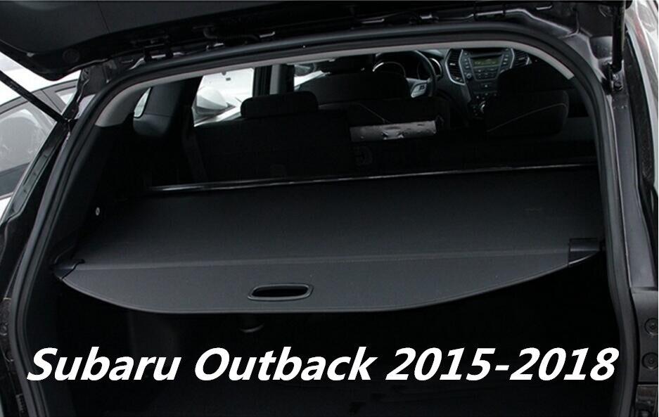 JINGHANG voiture coffre arrière bouclier de sécurité couverture de cargaison pour 15-18 Subaru Outback 2015 2016 2017 2018 (noir, beige)
