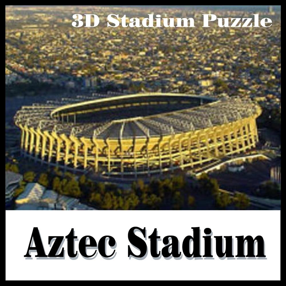 Terres intelligent et heureux 3d puzzle modèle 3D puzzle stade modèle Aztèque adulte puzzle bricolage papier cadeau pour garçon papier apprentissage et l'éducation