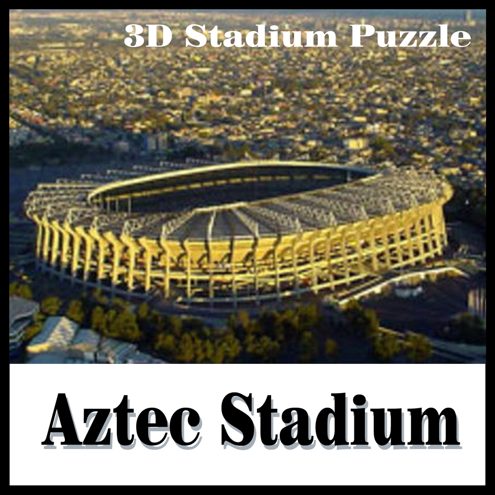 clever&happy land 3d puzzle model 3D puzzle stadium model Aztec adult puzzle diy paper gift for boy paper learning & education halo bruteshot 3d paper model