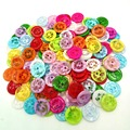 100P 13MM Mix color plastic buttons children's apparel supplies sewing accessories DIY free shipping A245
