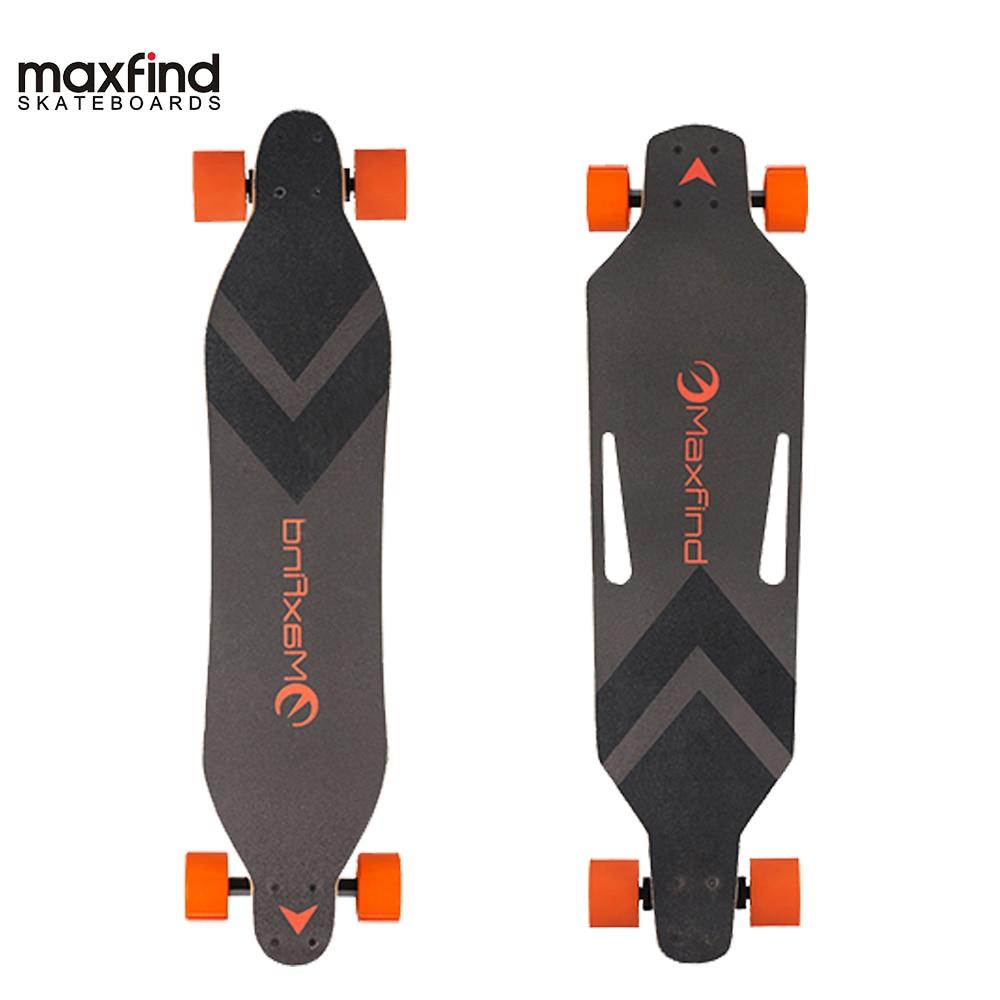 Maxfind Le Plus Léger du monde Unique Moteur à distance skateboard électrique Longboard 4 Roue avec 12-mois de Garantie