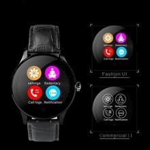 Runde Bluetooth Smart Uhren Uhr Klassische Gesundheit Metall Smartwatch mit Pulsmesser für Android ISO iPhone Telefon K88H