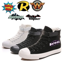 Printing Cool Batman Character Logo Canvas Shoes High-top Flat Casual Mens Fashion Students shoes