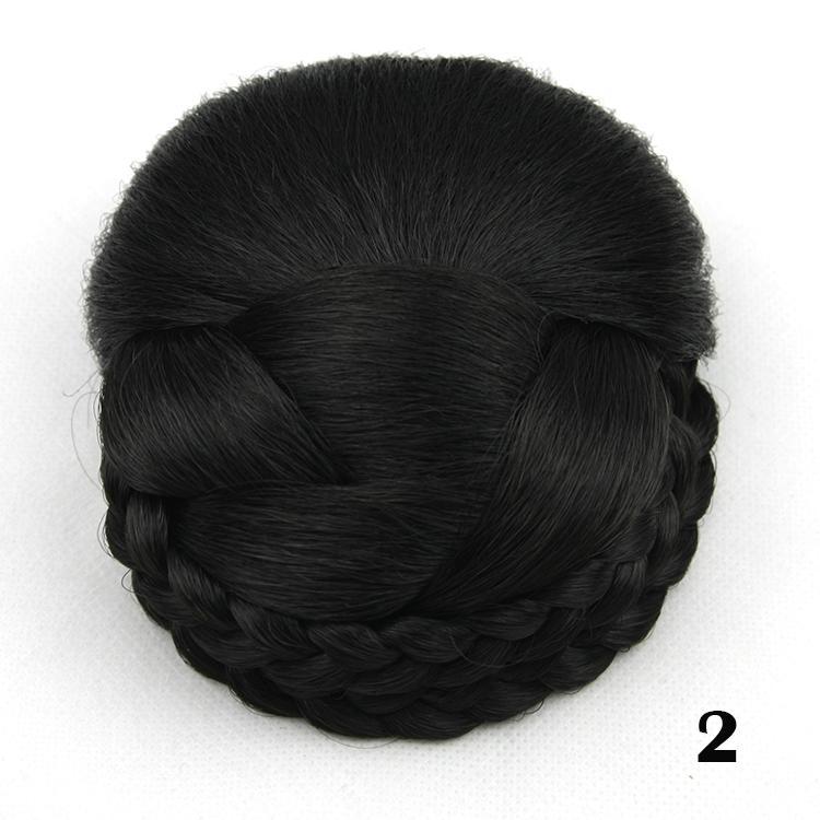 Шиньон черные волосы