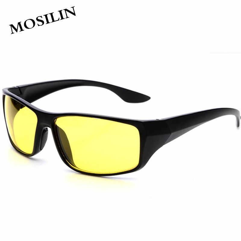 4cfac2b4f3c MOSILIN TAC HD Sunglasses Men Women Night Vision Driving Glasses Goggles  Driver Aviation Yellow Sun Glasses