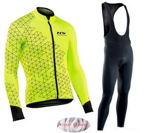 c51fbc6f4 Northwave MTB clothing warm Bib Pants set 2019 Winter thermal fleece  Cycling Clothes