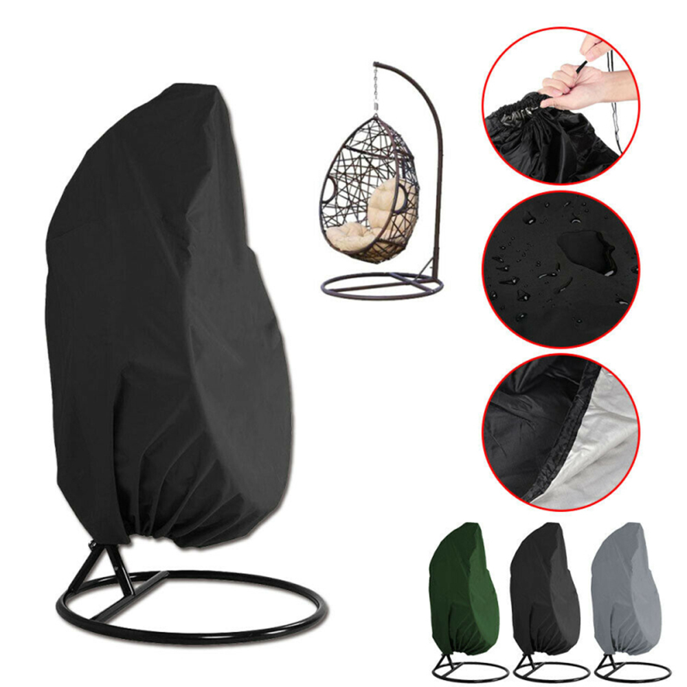 Outdoor Swing Dustproof Cover Multifunctional Rattan Swing Floor-standing Egg-shaped Swings Dustproof Waterproof Cover 190x115cm(China)