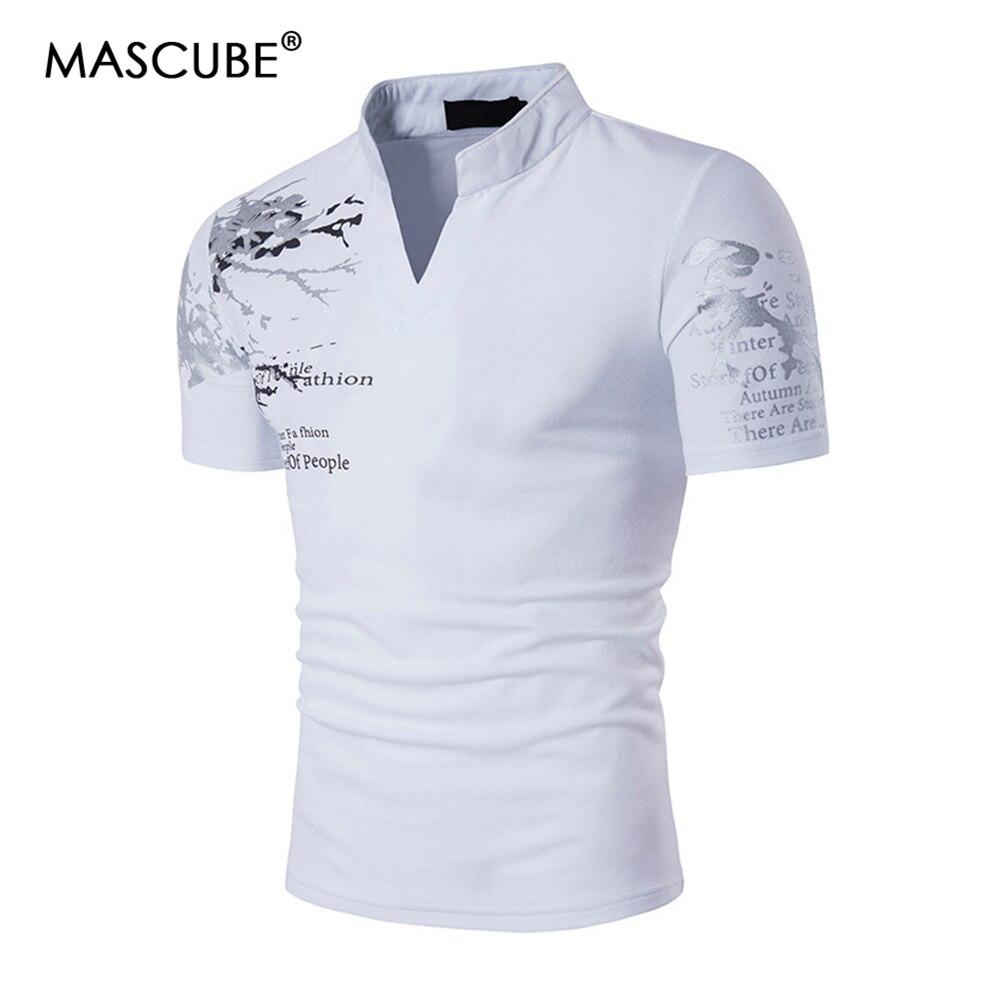 MASCUBE New Designer 2019 Fashion Brand Male   Polo   Shirt Printing Short-Sleeve Slim Fit Shirt Men   Polo   Shirts Casual   Polo   Homme