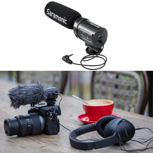 Image 5 - Saramonic Sr M3 Mini kierunkowy mikrofon kondensujący do aparatu Nikon Canon aparat sony dslr i kamery