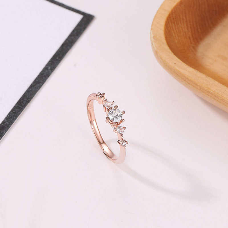 fb71d623d3984 The New Flash Rose Gold Ring Small Opal Engagement Nail Ring Female Ladies  Rings for Women Accessories Anillos Mujer Bague Femme