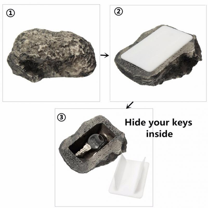 Outdoor Muddy Mud Spare Key House Safe Hidden Hide Security Rock Stone Case Box