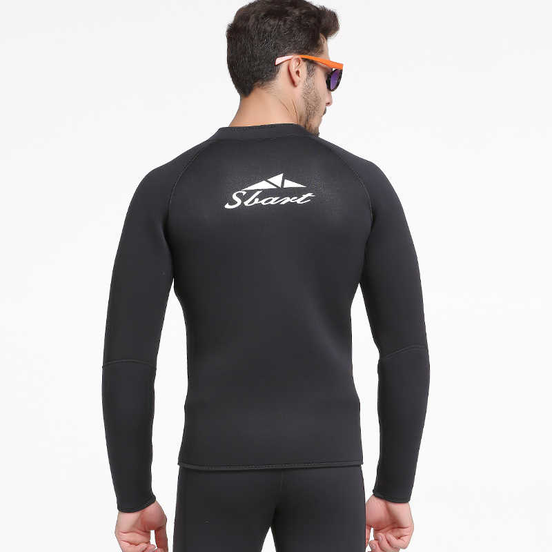 2019 erkekler wetsuit ceketler 3mm neopren uzun kollu tulum tüplü dalış dalış elbisesi üst kış yüzmek sıcak sörf yukarı