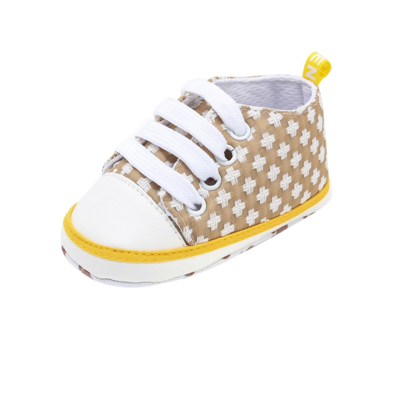 New Kids Baby Shoes Autumn Children The First Walker Baby Boys Girls Cross Print Casual Shoes Baby Lace Up Canvas Toddler Shoes
