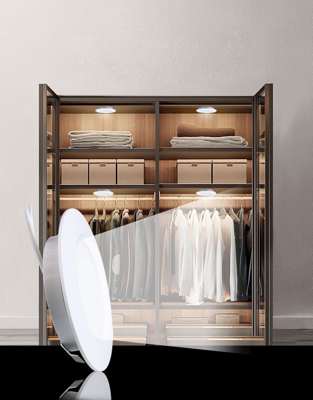 12PCS 12V LED Cabinet Light Round Aluminum Puck  Lamp Under kitchen Cupboard Shelf  Cabinet Lighting Light Fixture Indoor Lamps (2)