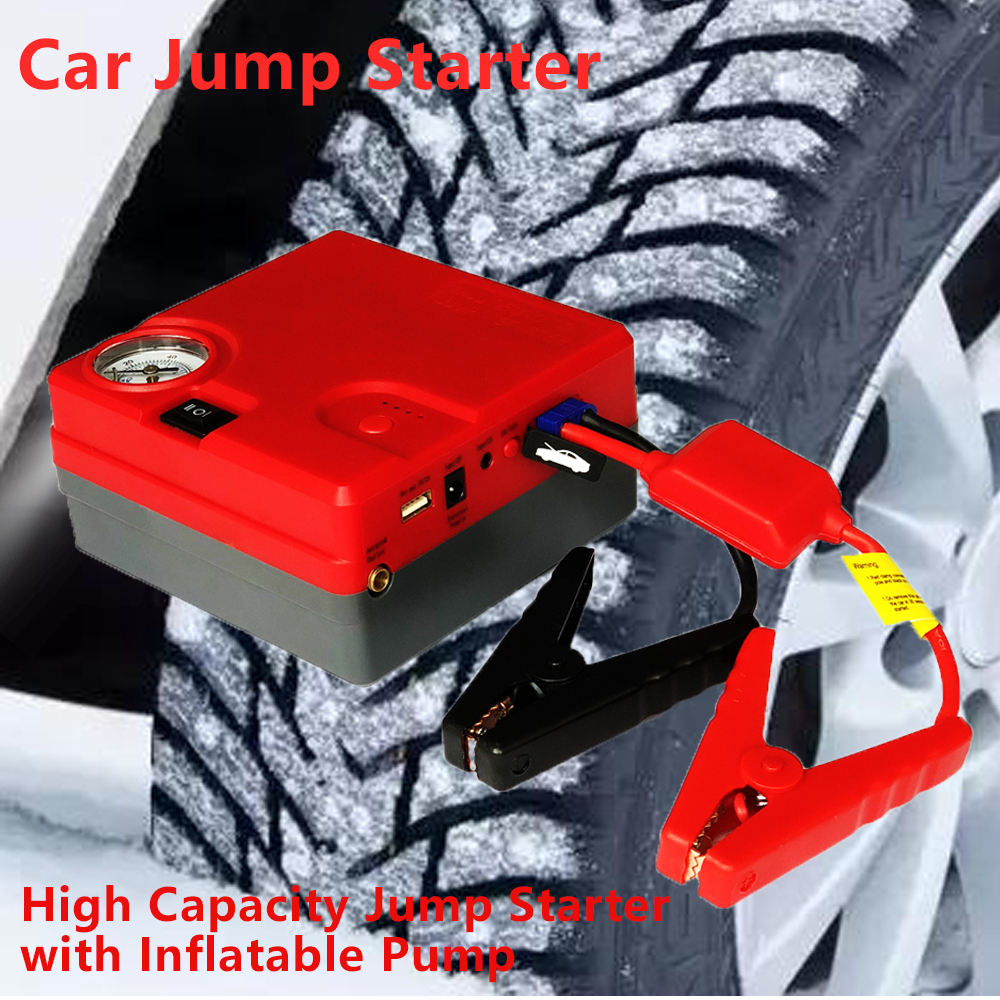 New Power Portable 12V Car Battery Jump Starter Auto Jumper Engine Power Bank Car Charger Booster Starting Device LED Lighter 12v mini portable 82800mah led car jump starter engine auto emergency starting device power bank car phone charger with 4usb