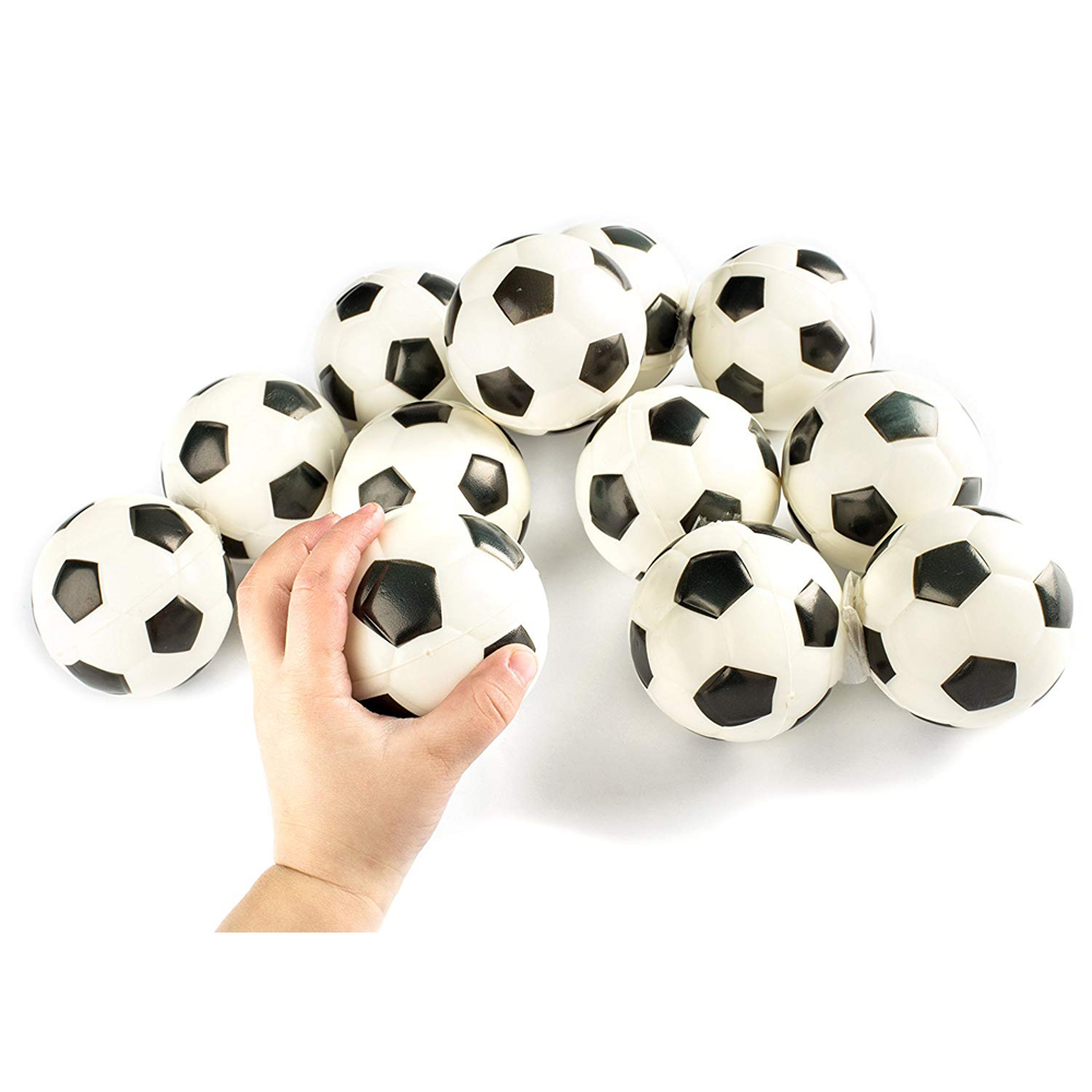 """1PCS Football Sports Stress Balls Relaxable 2"""" Stress Relief Soccer Squeeze Balls Squishy Cream Scented Decompression"""