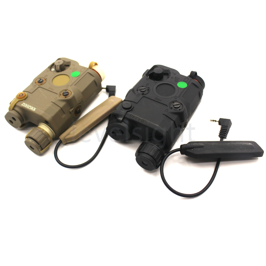AN/PEQ-15 LED White Light+Green laser sight with IR Lens for 20mm picatinny rail mounts Tactical hunting wipson lanterna airsoft led light tactical kit includes la 5 peq 15