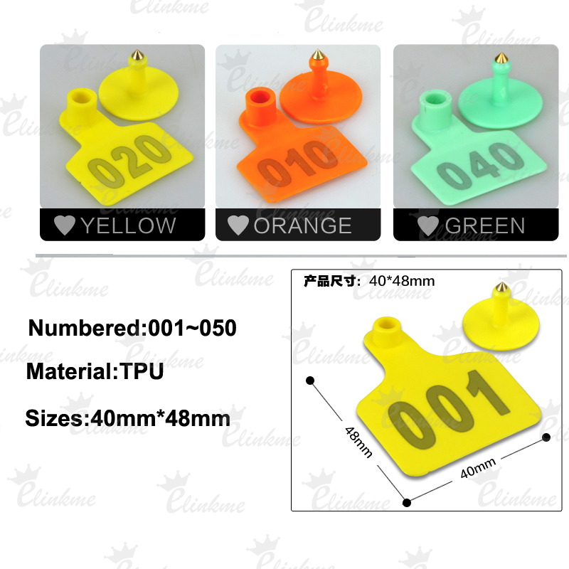 001--200 Number Green Animal cattle Use Ear Tag Livestock Tags labels cattle spe