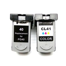 1 компл. PG-40 CL-41 заменяемая картридж PG40 CL41 для Canon PIXMA IP2500 IP2600 MX300 MX310 MP160 MP140 MP150
