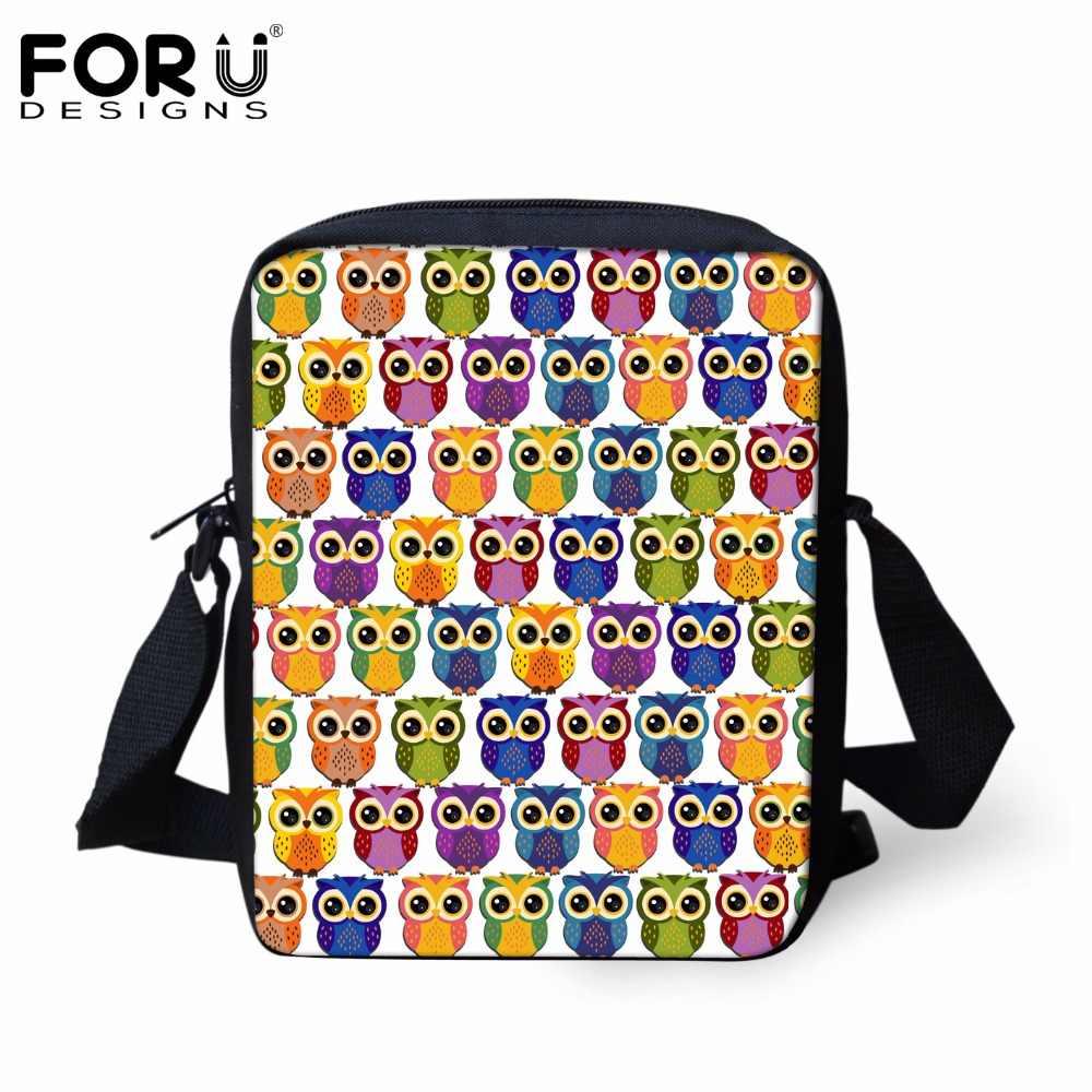 FORUDESIGNS/Роскошные брендовые сумки-мессенджеры для женщин, милое животное, Сова, принт, головоломка, Женская дорожная сумка через плечо, Детская сумка на плечо