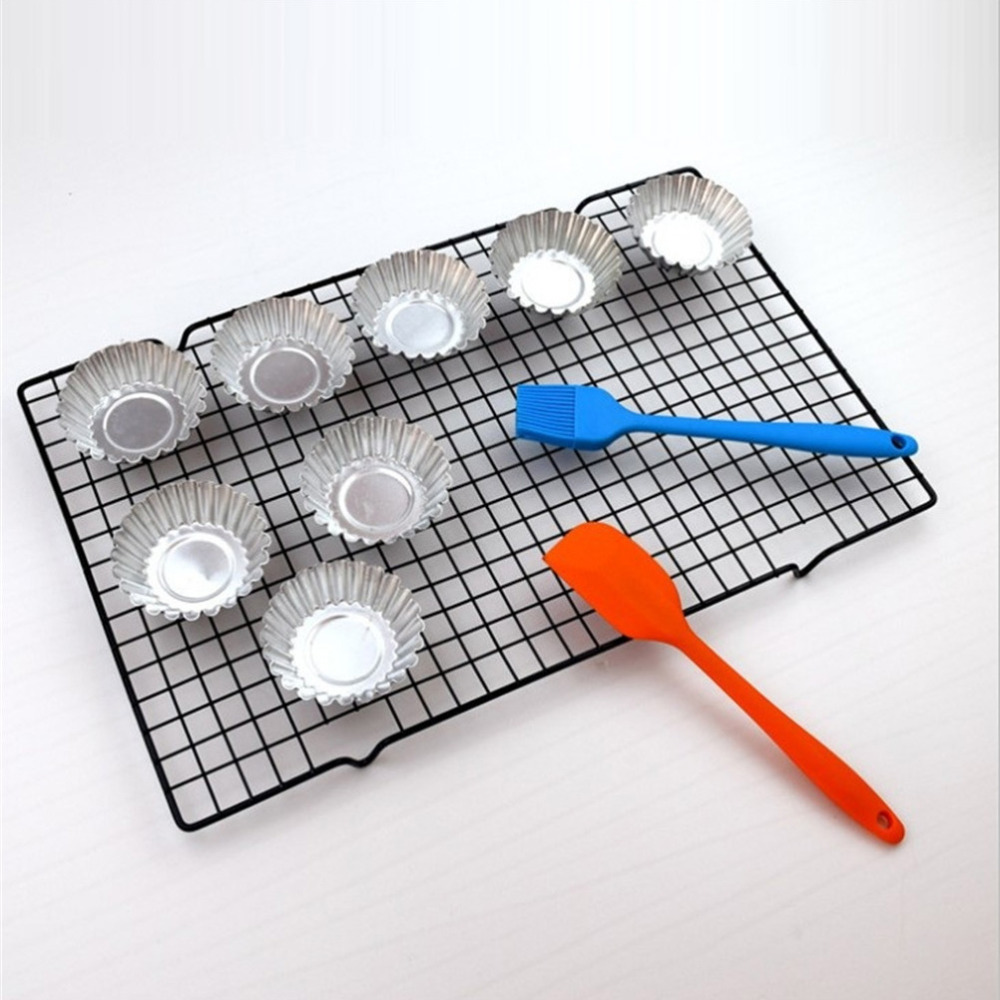 1Pc 25*40cm Metal Nonstick Cake Cooling Rack Net Cookies ...