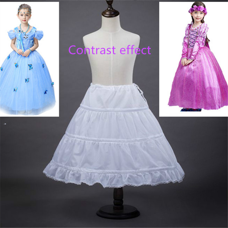 Fast Shipping Wedding Accessories Kids Girls Petticoat Vestido Longo Ball Gown Crinoline Skirt Petticoats In Stock