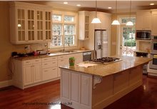PVC/vinyl kitchen cabinet(LH-PV087) solid wood kitchen cabinet lh sw095